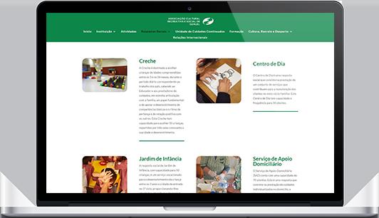 Website – Associação Cultural Recreativa e Social de Samuel
