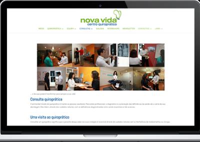 Website – Centro Quiroprático Nova Vida