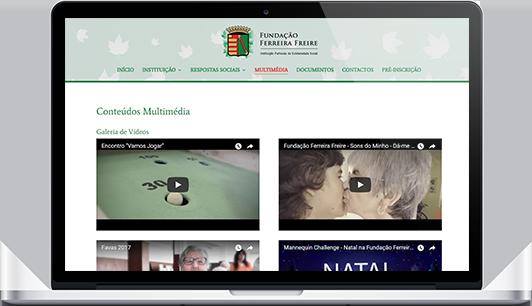 Website – Fundação Ferreira Freire
