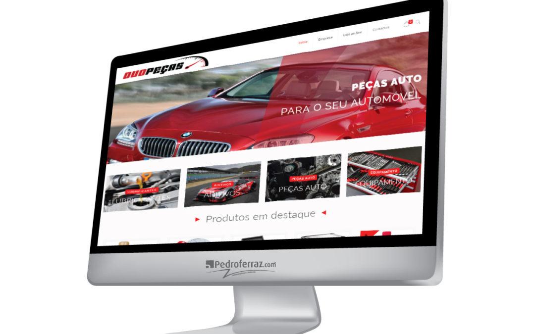 Novo website desenvolvido