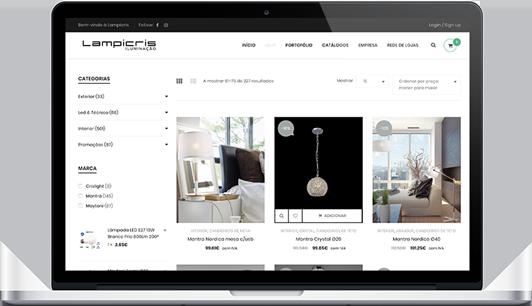 Website – Lampicris Iluminação